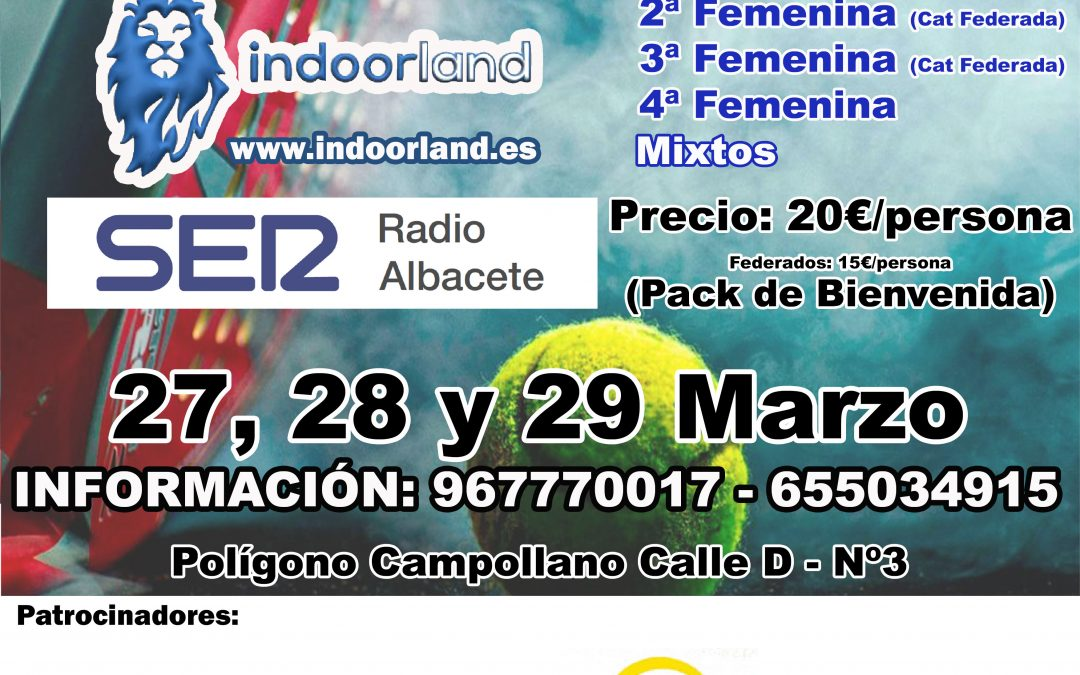Torneo Pádel Indoorland